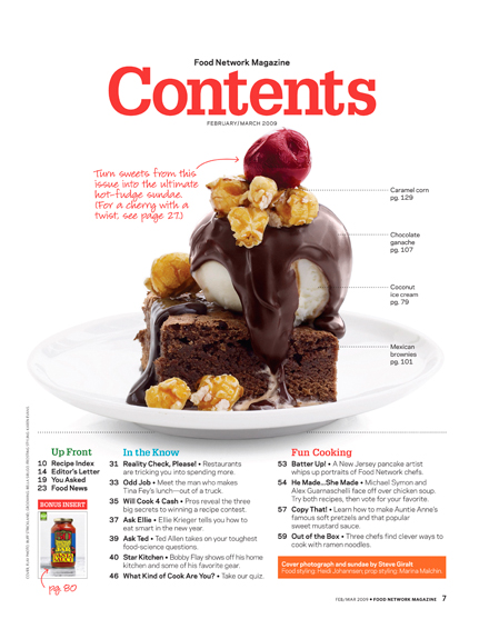 Magazine research contents page bexyt 39 s blog for Article cuisine